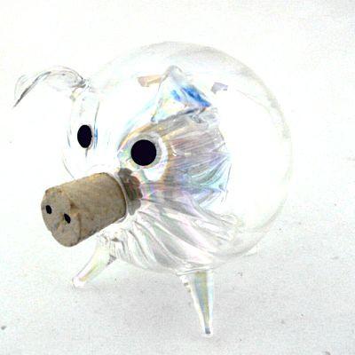 Obstfliegenfalle Schwein ø 6,5 cm Klarglas geriffelt