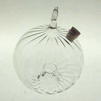 Wespenfalle Kugel ø 10cm hängend Klarglas geriffelt