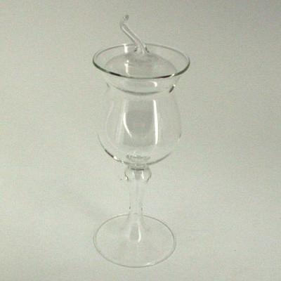 Schnapsglas Calvados 14cm mit Deckel Klarglas