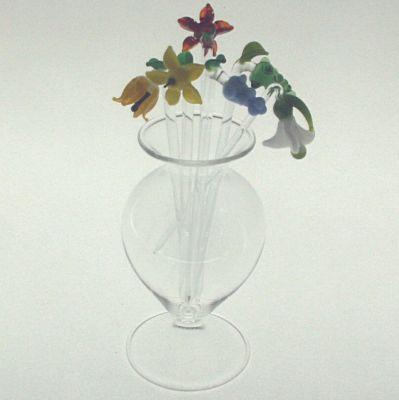 Glas für Bowlespießer auf Fuß 11cm Klarglas