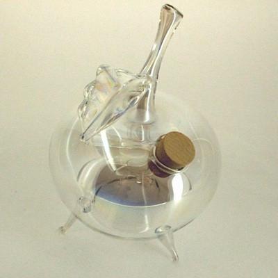 Wespenfalle Apfel stehend ø 9cm Klarglas mit Iriseffekt