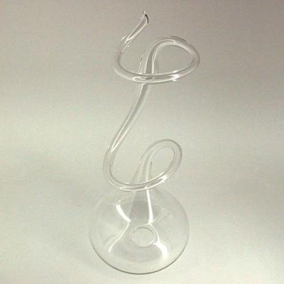 Einblumenvase mit Schleife 27cm Klarglas
