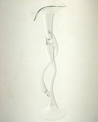 Kerzenständer mit Ranke für Strauchkerzen 25cm Klarglas
