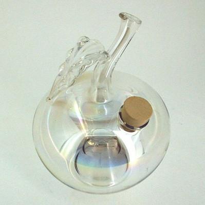 Wespenfalle Apfel hängend ø 9cm Klarglas mit Iriseffekt