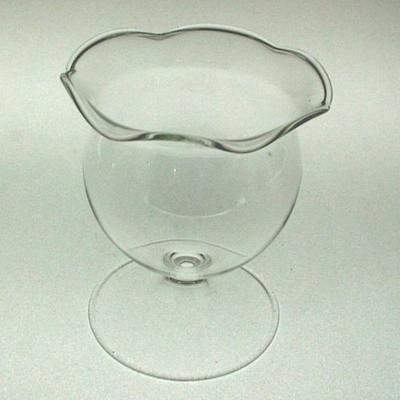 Blumentopf auf Fuß ø 7 cm Klarglas