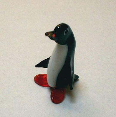 Pinguin 6,5 cm Farbglas