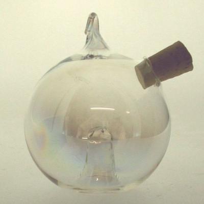 Obstfliegenfalle Kugel ø 6,5cm hängend Klarglas mit Iriseffekt
